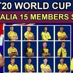 AUSTRALIA 15 MEMBERS SQUAD